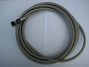 Nos Nitrous Nx Zex Edelbrock Holley 14 15 Or 16 Foot Black 4an S Steel Line New