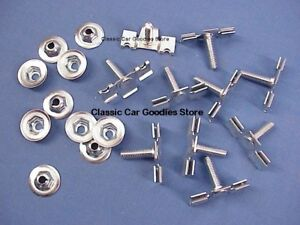 1953 1954 Chevy Rear Fender Gravel Shield Body Clip Set 10 Clips