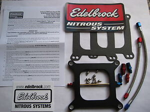 Why Pay More Edelbrock Nitrous Performer Rpm Holley 4150 Plate Kit 100 250hp