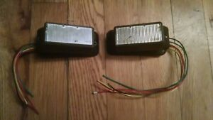 Pair Of Federal Signal Ipx300 Surface Mount Led s Blue Used Work Great