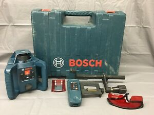 Used Bosch Grl 250 Hv Self Leveling Rotary Laser Level Kit