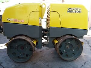 2013 Wacker Neuson Rtsc2 Trench Compactor Sheepsfoot Roller very Low Hours
