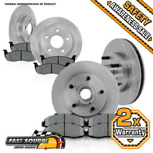 Front Rear Rotors Metallic Pads For 2000 2001 2002 2003 2004 Ford F150 2wd 5 Lug