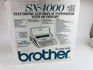 Brother Sx 4000 Electronic Typewriter With Correct Daisy Wheel