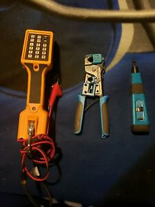 Fluke Networks Ts22 Telephone Test Set With Phone Crimper And Punch Down Tool
