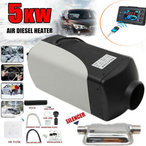 5kw 12v Diesel Fuel Air Heater Lcd Monitor Car Truck Heating Remote Controller