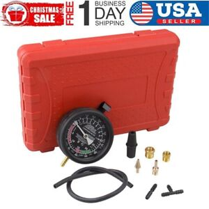 Cars Fuel Pump Vacuum Tester Gauge Leak Carburetor Valve Auto Diagnostics Kit Ho
