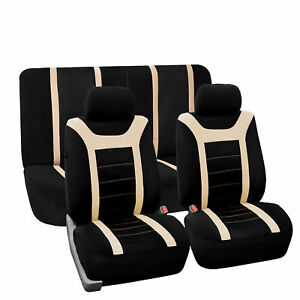 Top Quality Sport Car Seat Cover Front Back Beige Black For Car Truck Suv