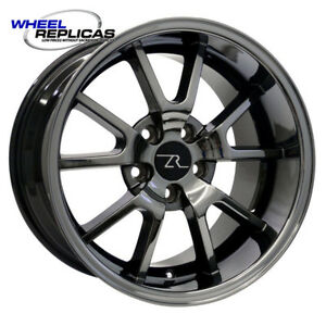 17 Black Chrome Mustang Fr500 Replica Wheels 17x9 17x10 5 5x114 3 Rims 94 04