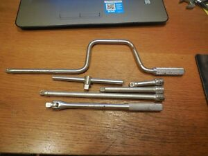 6 Pieces Of Williams 3 8 Drive Extensions Breaker Bar T Handle