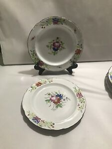 2 Kings Rose Floral Hand Painted Pearlware Plate C1815 1