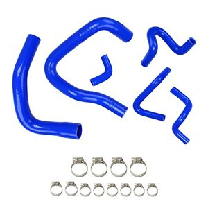 Silicone Radiator Hose Kit For Ford Mustang Gt Lx Cobra 5 0 86 93 88 89 91 Blue