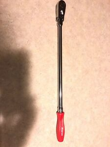 New Snap On Ratchet Fhllfd80 3 8 Extra Long With Flex Head Red Handle