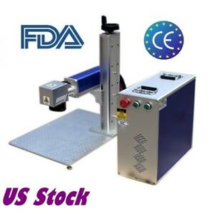 Usa Stock 30w Split Fiber Laser Engraving Marking Machine With Ratory Axis