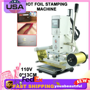 Automatic Leather Craft Press Embossing Hot Foil Stamping Machine 110v 10 13cm