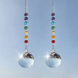 Auto Car Mirror Pendant Crystal Prism Ball Charms Ornament Hanging Jewelry Decor