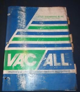 Vac all E 10 Street Sweeper Machine Operator Operation Maintenance Manual Book