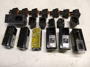 Lot Of 7 Miyama Ds 322a Rocker Switches 6 Iec 6vj1 Ac Sockets With Fuse Holder