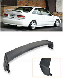 For 96 00 Honda Civic 2dr Coupe Mugen Style Abs Plastic Rear Wing Spoiler Lip