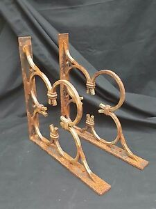 Reclaimed Iron Clover Corner Shelf Wall Brackets Set Of 2