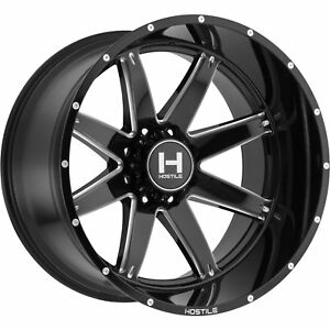 20x10 Black Milled Alpha 8x180 19 Wheels Country Hunter Mt 33 Tires