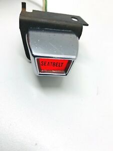 1967 Mustang Gt Shelby Convertible Oem Deluxe Seat Belt Reminder Light 1968 69