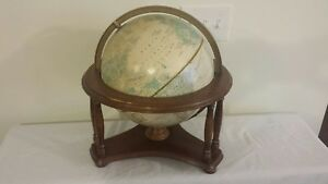 Cram Imperial 12 Globe World On Powell Woof Stand