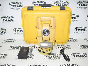 Topcon Gts 302d Total Station Transit W Case New Charger Battery