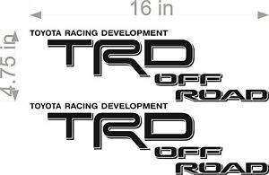 Trd Off Road Decals Toyota Tacoma Racing Development Vinyl Stickers X2 06 11