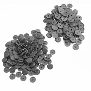 20pairs Seat Belt Buckle Buttons Holders Studs Retainer Stopper Rest Pin Grey
