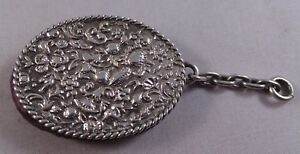 Good Quality Antique Sterling Silver Chatelaine Pin Cushion 1887