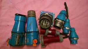 Electircal Quick Disconnects And Coupling Lot Of 8 Item