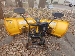 Used Meyer 8 5ft Sv2 V Snow Plow Plow Side Only Ez Mount Plus Good Condition