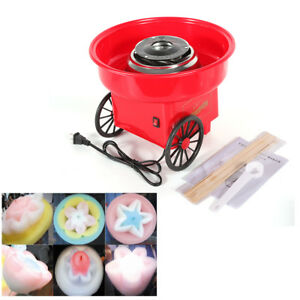 450w Red Floss Machine Electric Mini Cotton Candy Maker Commercial Cotton Sugar