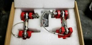 Red Hood Latch Catch Lcoking Hold Assembly Kit For Jeep Wrangler Jk