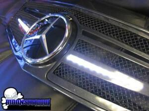2010 2015 Mercedes Benz S Class S550 Strut Collection Lighted Led Mesh Grill Kit