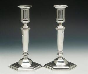 Tiffany Co Pair Of 9 Candlesticks Sterling Silver Very Nice