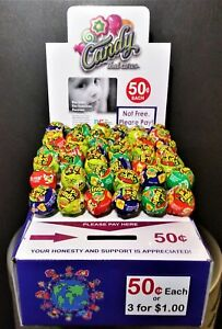 5 New Vending Route Display Honor Boxes Sells Candy Lollipops Donation Charity