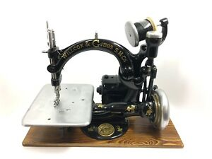 Antique Willcox Gibbs Motorized Chain Stitch Sewing Machine Late 1800s 1809msn
