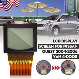 Speedometer Lcd Display Screen Cluster Odometer W Ribbon For Nissan Quest 04 06