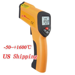 50 1600 Non contact Infrared Laser Thermometer Lcd Digital Temperature Gun
