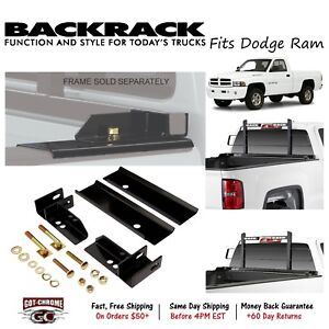 30107 Backrack Headache Rack No Drill Mounting Kit Fits Dodge Ram 1500 1994 2001