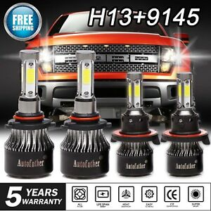 H13 9008 Led Headlight 9145 9140 Fog Lights For 2005 2014 Ford F 150 F250 F350