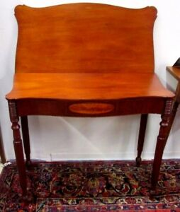 Antique American Federal Inlaid Sheraton Card Tableseymour Schoolcirca 1800
