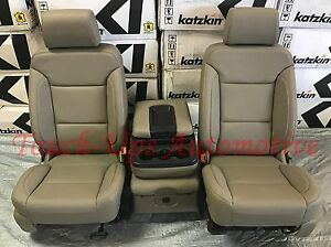 2014 2018 Gmc Sierra Sle Crew Cab Katzkin Cocoa Dune Leather Seat Covers Kit New