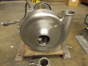 Waukesha Stainless Steel Sanitary 2085 Centrifugal Pump 3 In X 2 1 2 out 5hp