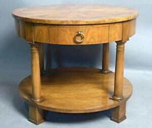 Baker Round Accent End Table Occasional Side Lamp Coffee Dining Sofa Desk Server