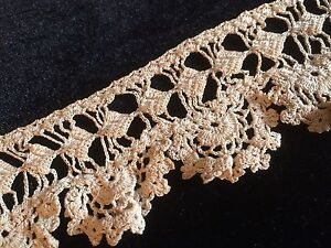 Antique Crochet Lace Trim Edging Fancy French Dolls Clothing Costume 12