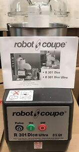 Robot Coupe R301 Ultra Dice Combination Continuous Feed Food Processor 3 Qty