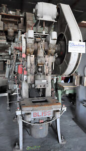 45 Tons X 04 Used Bliss Air Trip Mechanical Obi Punch Press 21s A1943